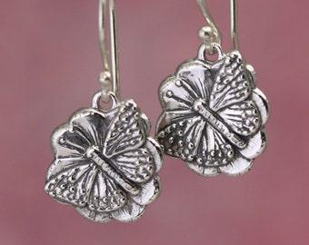 Artisan Sterling Silver Butterfly Earrings – Calieri