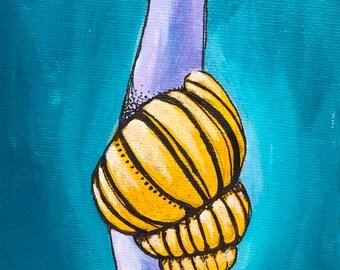 Small Snail Original Canvas