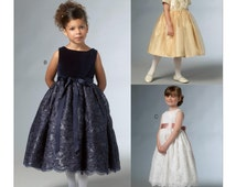 Vogue V9072 UNCUT Little Vogue Girls Special Occasion Flower Girl Dress Princess Costume Dance Dress Up Pageant Sewing Pattern