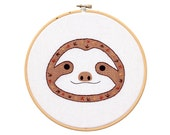 Baby Sloth - Hoop Art Kit