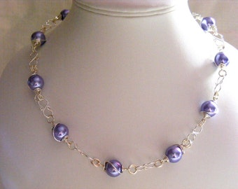 Lavender Pearl Jewellery Set