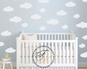 Clouds Decal - Baby Girl Nursery Wall Decal -  Baby Girl Wall Decal - Baby Boy Nursery Decal Wall Decor - Baby Boy Wall Decal DP013