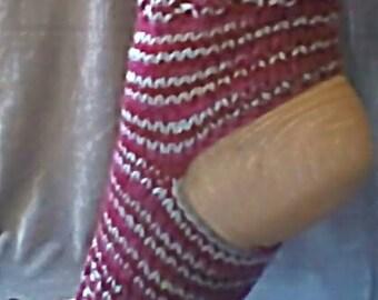 Handknit yoga socks in multicolor patterns