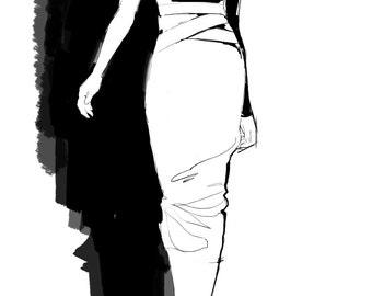 "Fashion Illustration Art Print of ""Runway"""