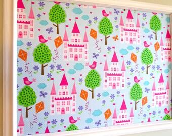Princess Castle Pinboard Fabric Cork Board
