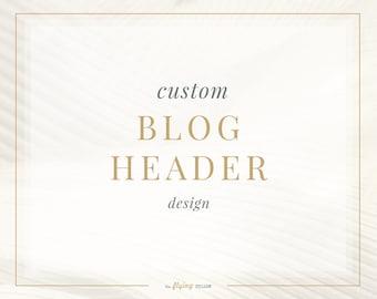 Custom Blog Header Design - One of a kind Blog Header Design - Photography Blog Banner - Website Wedding Blog Header - Bespoke Header Design
