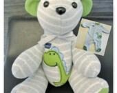 Onesie Memory Bear Small                              Custom Personalized Newborn Baby First Birthday Gift