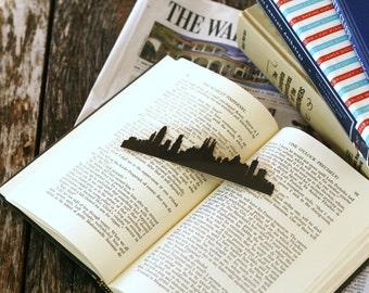 Barcelona, Spain - Hand-cut Silhouette Bookmark, Barcelona Skyline, Travel Bookmark, Cut Paper