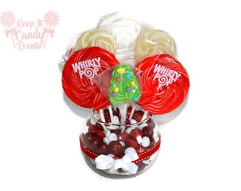 Lollipop Christmas Tree Centerpiece, Candy Centerpiece, Christmas, Lollipop Centerpiece, Christmas tree, candy