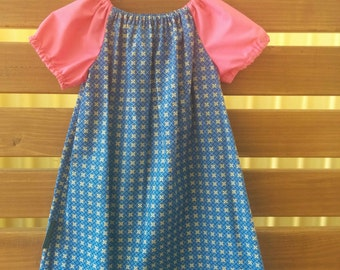 Girls Peasant Style Dress. Size 2