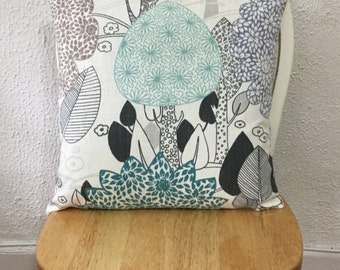 "Designer Fabric Nature's Havan Slub Throw Pillow Cover Same Fabric Both Sides 18""x18"""