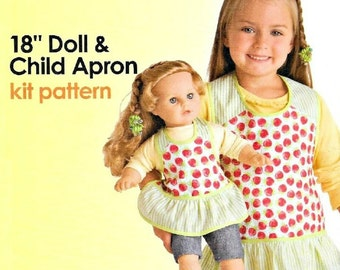 CHILD'S APRON Sewing Pattern  -  Very Gently Used  2010 Simplicity 5029 - Creative Cuts Pattern - It's So Easy - Dolls Apron Included