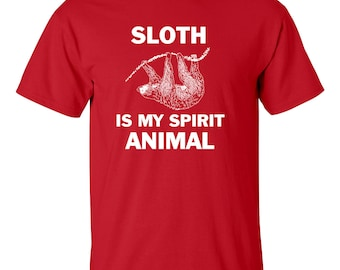 Sloth is my spirit animal T Shirt perfect for the couch potato!