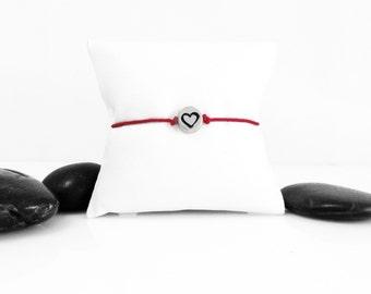 Love Bracelet, Friendship Bracelet, Tiny Heart Bracelet, Silver Heart, Heart, Everyday Bracelet, Gift For Her, Heart Jewelry, b247cSS