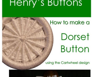 Instruction leaflet for making a Dorset Button called a Cartwheel