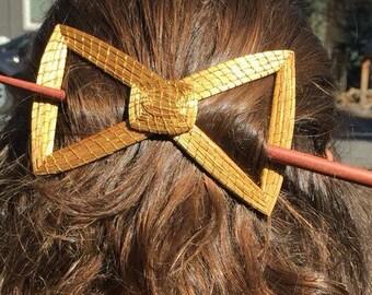 Golden Grass hair barrette