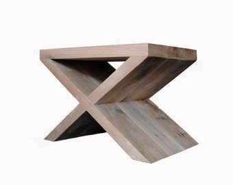 Salvaged Oak Collection- X Side Table