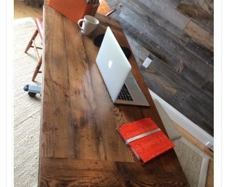Contemporary Reclaimed Wood Desk Top Add To Your Base Table Without Legs B With Decor