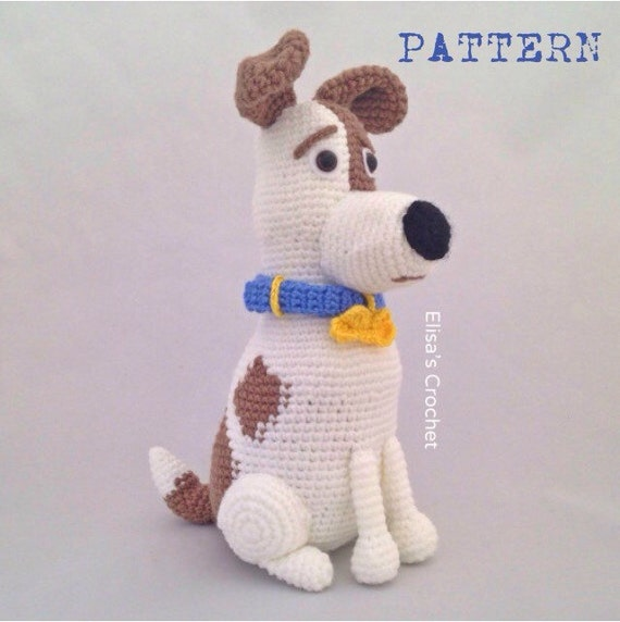 Crochet Patterns Pets : CROCHET PATTERN - MAX The secret life of pets movie Amigurumi doll ...