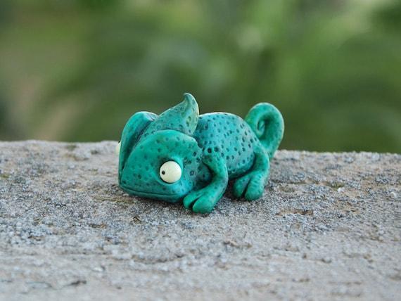 Cute Chameleon Figurine reptile totem good luck chameleon