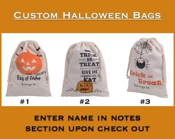 Custom Halloween Trick or Treat Bag
