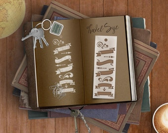 Journal Banners Bookmark Stencil