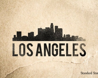 Los Angeles Rubber Stamp - 2 x 2 inches