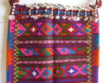 vintage hand woven handbag