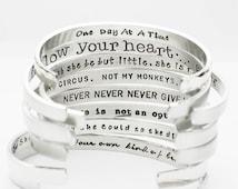 Inspirational Bracelet, Confidence Cuffs® Hand Stamped Secret Message Bracelets, Inspirational Jewelry, Hand Stamped Jewelry, Graduation