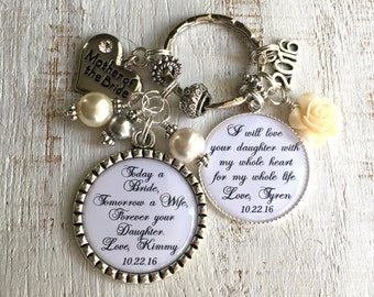 Wedding gift for MOTHER-of-the-Bride Gift from Daughter Mother-in-Law Keychain Wedding Gift Keychain Mother-of-the-Groom gift from Bride