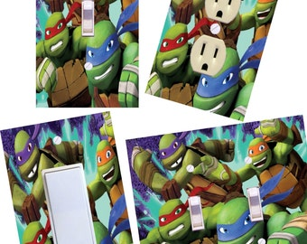 Teenage Mutant Ninja Turtles Light switch cover wall plates TMNT kids room decor