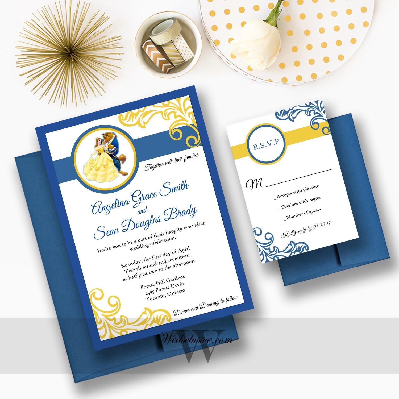 Wedding Invitations Disney: Beauty And The Beast Wedding Invitations Disney Weddings