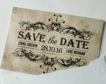 """Save the date """"Jenna"""" vintage"""