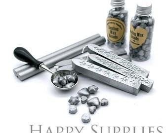 Silver Metallic Sealing Wax for Wax Seal Stamp Set
