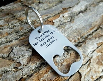 Thank You For Raising the Man Woman of My Dreams - Father in Law- Wedding Gift for Him - Bride Groom - Father of the Bride - Father of Groom