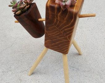 LiL Wood Sculpture Plant Pot
