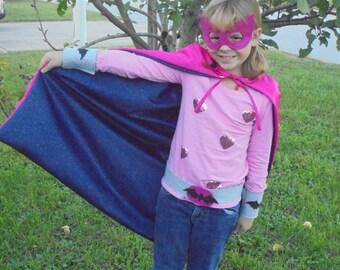 Superhero Mask, Cape, Gauntlets, and Belt