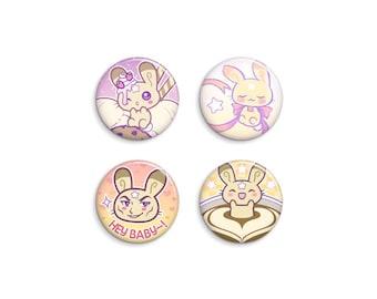 Mr. Bunny Pin-Back Button Set