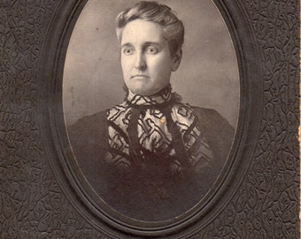 Antique Photo of Wide-Eyed Lady ID'd