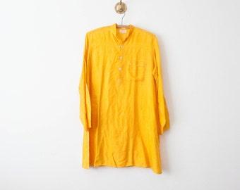 vintage 70s goldenrod cotton tunic