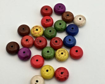 23 crackle turrquoise stone beads / 10mm  #PP051
