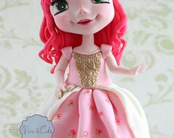 Fondant Princess cake Topper
