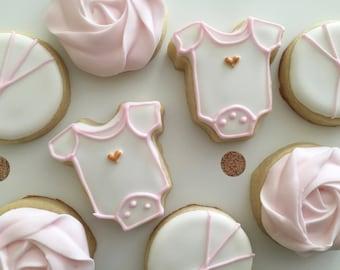 Mini Baby Shower Cookies | Sugar Cookies