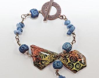 Painted Paisley Bracelet