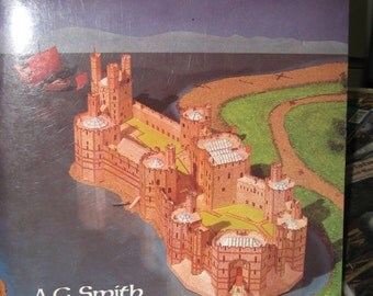 Cut & Assemble A Medieval Castle Full Color Model of Caernaruon Castle in Wales 1984