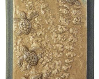 sea turtle tile, Pirate's Life, 4 x 8 inches