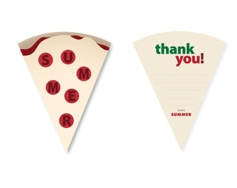 Pizza Thank You cards