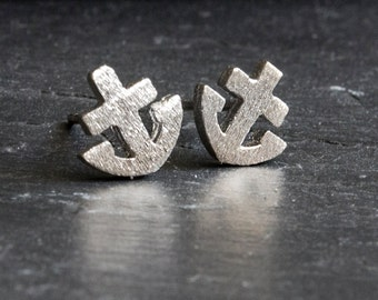 Anchor earrings - 925 Sterling Silver Edition