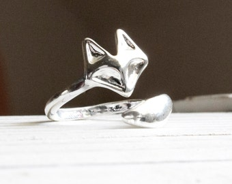 Fox ring silver
