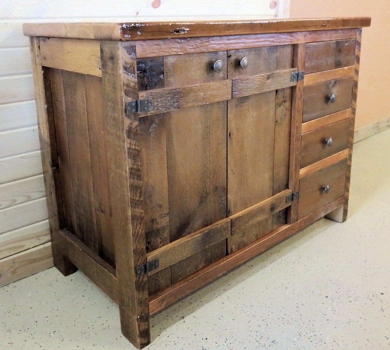 barn wood vanity batten door style. Black Bedroom Furniture Sets. Home Design Ideas